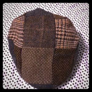 Vintage Golf Hat, Hats of Ireland, 100% wool tweed